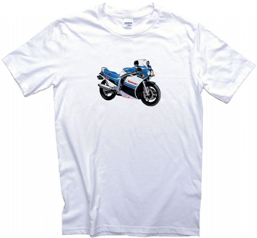 Vintage GSXR750 Motorcycle Biker T-Shirt. Gents Ladies & Kids Sizes Classic Bike